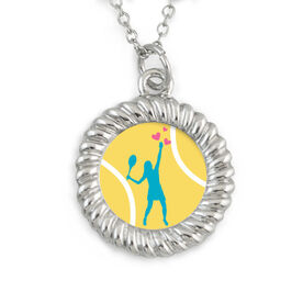 Braided Circle Necklace Serving Up Love