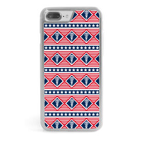 Girls Lacrosse iPhone® Case - Patriotic Lax Pattern