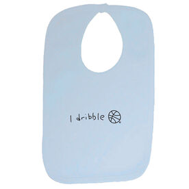 I Dribble Basketball Baby Bib