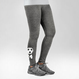 Soccer Performance Tights Soccer Ball with Number