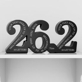 26.2 All Around Personalization Engraved Wood Words