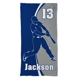 Baseball Beach Towel Personalized Batter