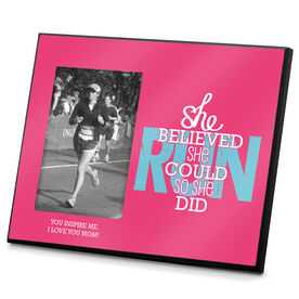 Running Photo Frame She Believed She Could