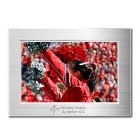 Engraved Cheerleading Frame Silver 4 x 6 with Cheer Icon