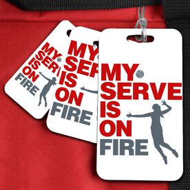 Volleyball Bag/Luggage Tag My Serve Is On Fire