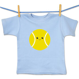 Tennis Baby T-Shirt Mini Tennis Ball Smile (Boy)