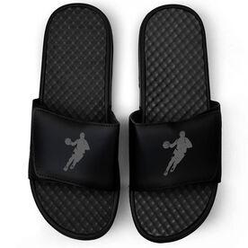 Basketball Black Slide Sandals - Guy Player