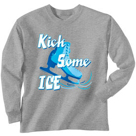 Figure Skating Tshirt Long Sleeve Kick Some Ice