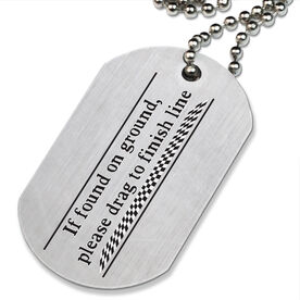 If Found - Running Printed Dog Tag Necklace