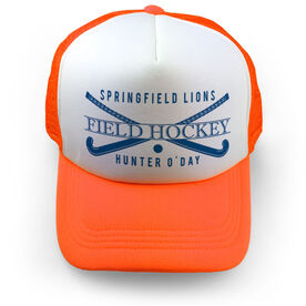 Field Hockey Trucker Hat - Personalized Crest