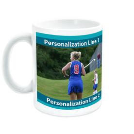 Field Hockey Ceramic Mug Custom Photo With Colors