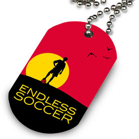 Endless Soccer (Male) Printed Dog Tag Necklace