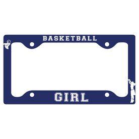 Basketball Girl License Plate Holder