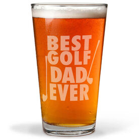20 oz. Beer Pint Glass Best Golf Dad Ever