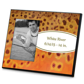 Fly Fishing Photo Frame Brown Trout With Label