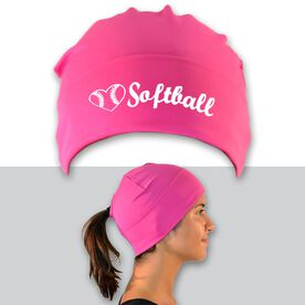 Performance Ponytail Cuff Hat Heart To Play Softball with Ball