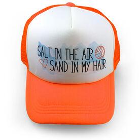 Volleyball Trucker Hat Salt In The Air Sand In My Hair