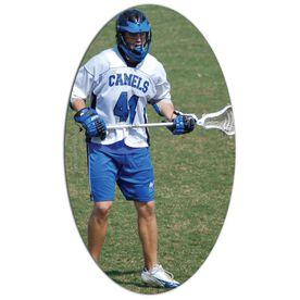 Guys Lacrosse Oval Car Magnet Your Photo Here