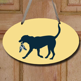 Roxi The Running Dog Decorative Oval Sign