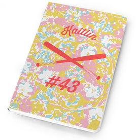 Softball Notebook Flower Power