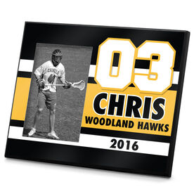 Lacrosse Personalized Photo Frame Personalized Number