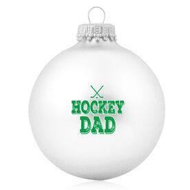 Hockey Glass Ornament Hockey Dad