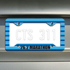 Marathon...Running License Plate Holder
