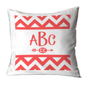 Cross Country Throw Pillow Chevron Monogram