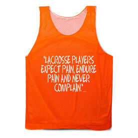 Guys Lacrosse Pinnie - Lacrosse Players Expect Pain