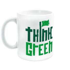 Golf Ceramic Mug Think Green