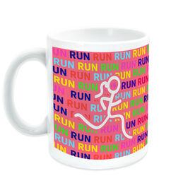Running Ceramic Mug Run Run Run With Stick Figure