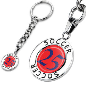 Soccer Circle Keychain Your Number