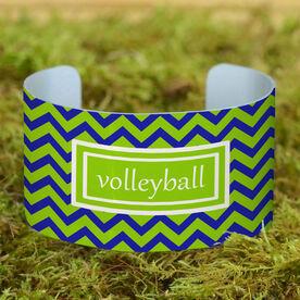 Volleyball Cuff Bracelet (Wide) Volleyball Chevron