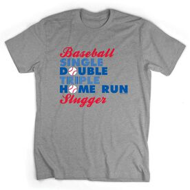 Baseball Tshirt Short Sleeve HomeRun Baseball