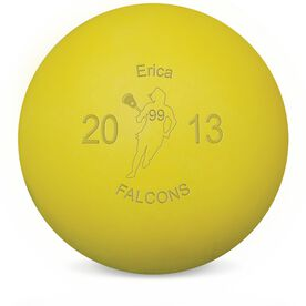 Lacrosse Player Female Laser Engraved Lacrosse Ball (Yellow Ball)