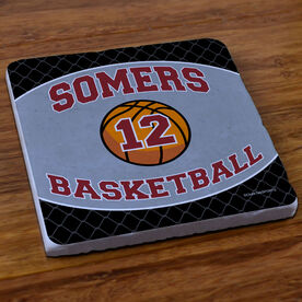 Basketball Stone Coaster Personalized Basketball Team with Basketball and Number