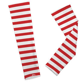 Printed Arm Sleeves Candy Cane Stripes