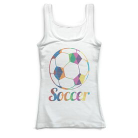 Soccer Vintage Fitted Tank Top - Geoball
