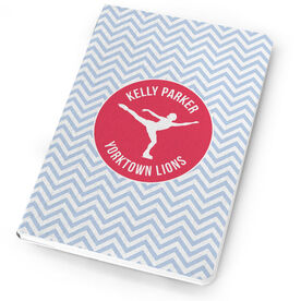 Figure Skating Notebook Personalized Silhouette