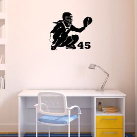 Personalized Softball Catcher Removable ChalkTalkGraphix Wall Decal