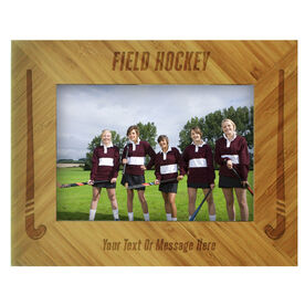 Field Hockey Bamboo Engraved Picture Frame Field Hockey