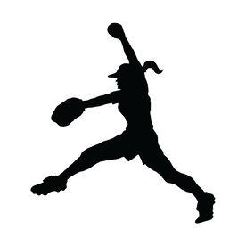 Softball Pitcher Windup Vinyl Decal