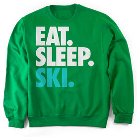 Skiing Crew Neck Sweatshirt Eat. Sleep. Ski.