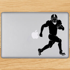 Football Running Back Silhouette Removable ChalkTalkGraphix Laptop Decal