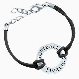 Softball Message Ring Bracelet