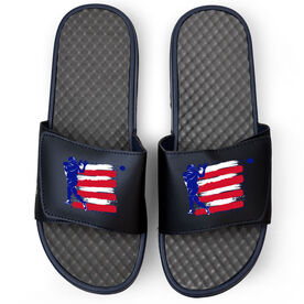 Football Navy Slide Sandals - USA Football