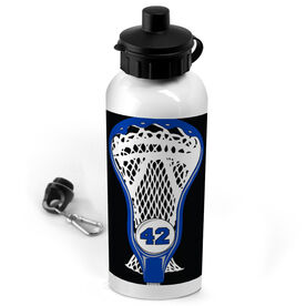 Lacrosse 20 oz. Stainless Steel Water Bottle Personalized Guys Stick Head