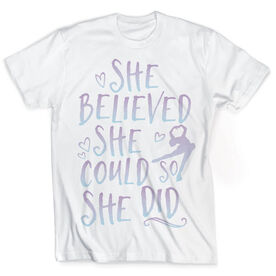 Vintage Figure Skating T-Shirt - She Believed She Could So She Did