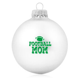 Football Glass Ornament Football Mom