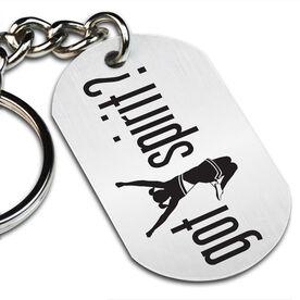 Got Spirit? Cheerleading Printed Dog Tag Keychain